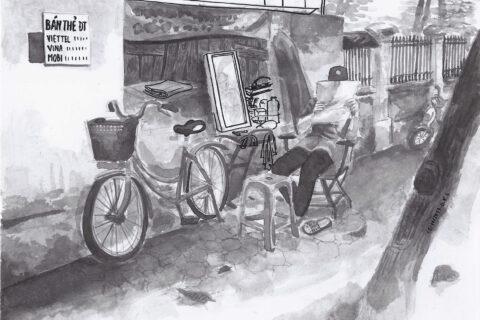 Hanoi's street barber